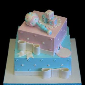 2 Tier Baby shower Theme Cake| Dottedi