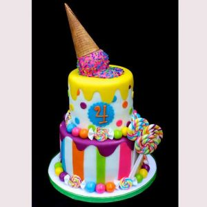 2 Tiered Candy Cake  Dottedi