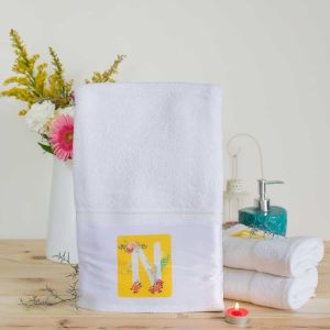 Towel Adults - Floral initial| Dottedi