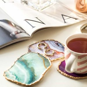 Agate Coasters Mixed| Dottedi