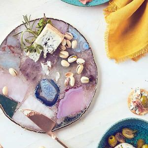 Agate Platter Multi-coloured| Dottedi