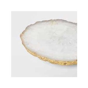 Agate Platter White and gold| Dottedi