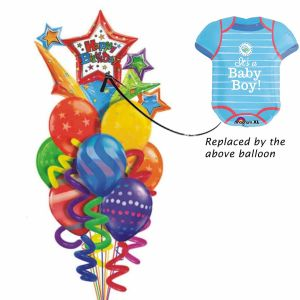 Baby Boy Romper Balloon Bouquet| Dottedi