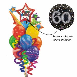 The big 60 Balloon bouquet| Dottedi