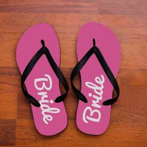 personalized Bride to be slippers| Dottedi