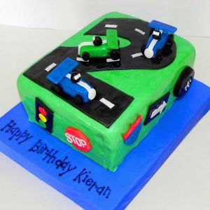 Car Themed Number Cake   Dottedi