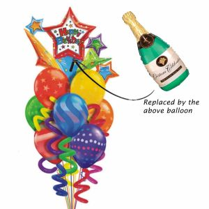 Champagne Bottle Balloon Bouquet| Dottedi
