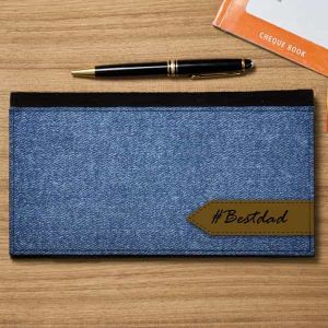 Cheque Book Holder Denim| Dottedi