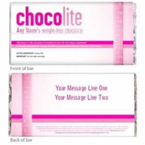 Personalized Chocolate Wrapper: Chocolite Weight Loss Chocolate| Dottedi