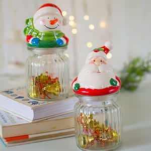Santa cookie Jar| Dottedi