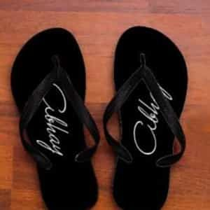 personalized Classic black slippers| Dottedi
