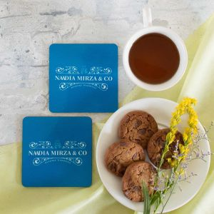 coasters set of 2 - monogram| Dottedi