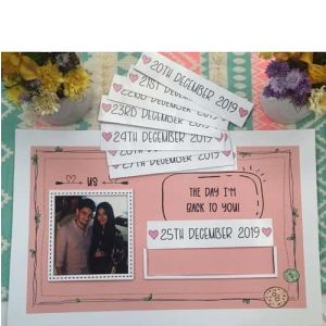 Personalized Countdown Frame| Dottedi