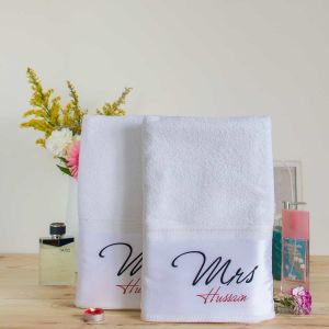 Towel couples - Mr and Mrs| Dottedi