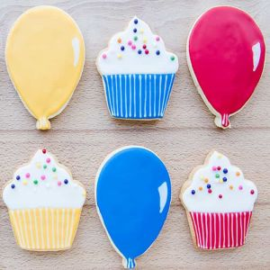 Balloons and Cupcakes Cookies| Dottedi