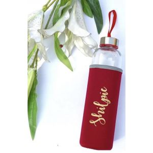 Customised Glass Water Bottle