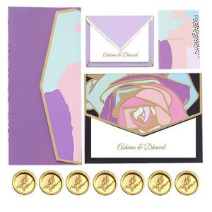 Customized Abstract Social Stationery Set
