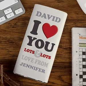 Personalized Chocolate Bar I Love You Lots Lots| Dottedi