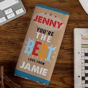 Personalized Chocolate Bar You're The Best| Dottedi