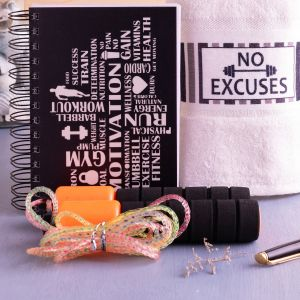 Fitness Themed Personalized Notebook