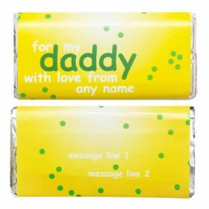 For my daddy chocolate wrapper| Dottedi