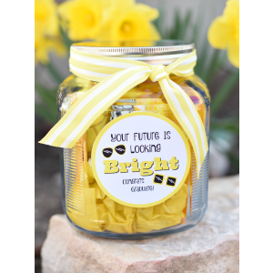 Future Looking Bright Graduation Candy Jar