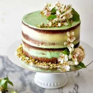 Green Naked cake| Dottedi
