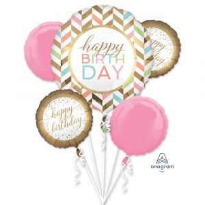 Scene Setter : Happy Birthday Vintage Balloon Bouquet