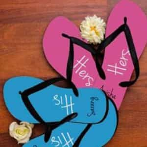 Personalized His and Her slippers| Dottedi