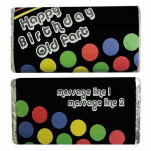 Personalized Chocolate Wrapper: Happy Birthday Old Fart| Dottedi