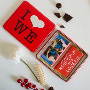 I Love We Chocolate Tin| Dottedi