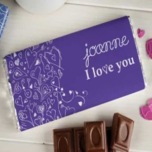 Personalized Chocolate Wrapper: I Love You| Dottedi