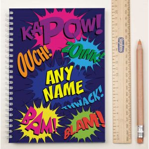 Personalized Notebook Kapow!| Dottedi