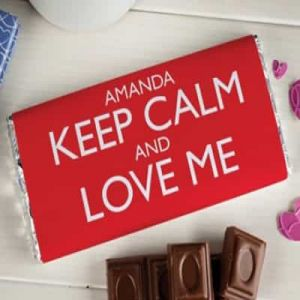 Personalized Chocolate Wrapper : Keep Calm & Love Me| Dottedi