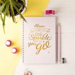 Personalized Notebook Sparkle| Dottedi