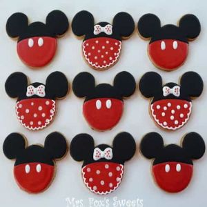 Mickey and Minnie Cookies| Dottedi