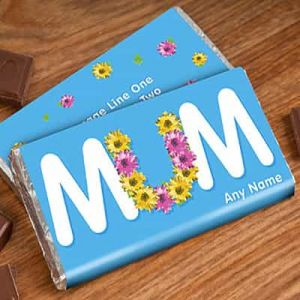 Personalized Chocolate Wrapper: MUM flower| Dottedi