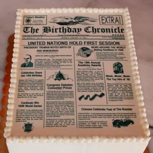 Newspaper Cake| Dottedi