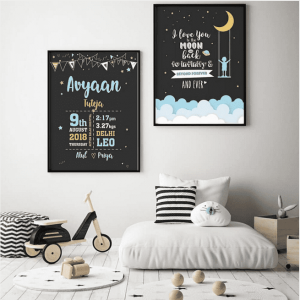 Birth Board Duo- Night Night Baby| Dottedi