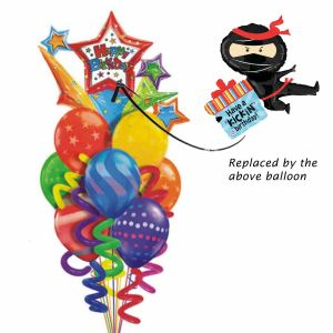 Ninja Birthday Balloon Bouquet| Dottedi
