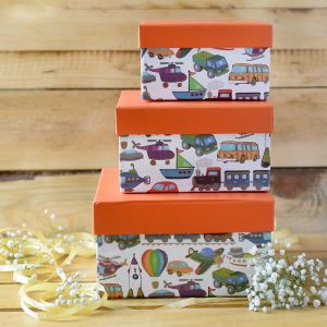 Orange Kiddie Gift box square| Dottedi