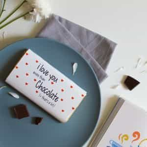 I love you more than chocolate- chocolate wrapper| Dottedi