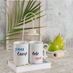Pair mug -you complete me| Dottedi