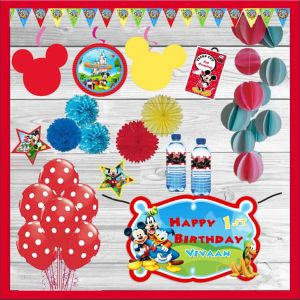 Mickey Club Themed Party In A Box  Dottedi