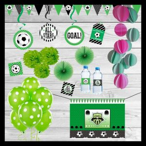 Soccer Themed Party In a Box| Dottedi