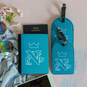 Passport holder +2 luggage tags- monogram female| Dottedi