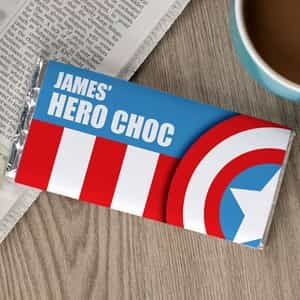 Personalized Chocolate Bar Hero Choc A| Dottedi