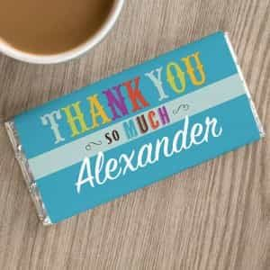 Personalized Chocolate Bar Thank You So Much| Dottedi