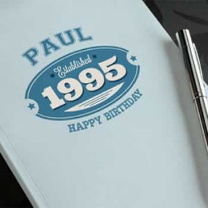 Personalized Notebook Established 1995 For Him| Dottedi
