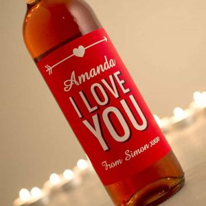 Personalized Wine I Love You| Dottedi